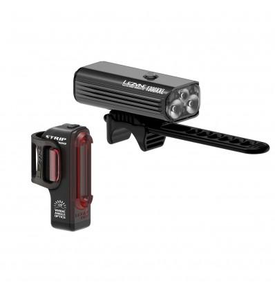 Lezyne Macro Drive 1300XL + Strip PRO LED tulede komplekt