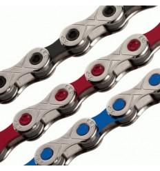 KMC X10 värvilised ketid